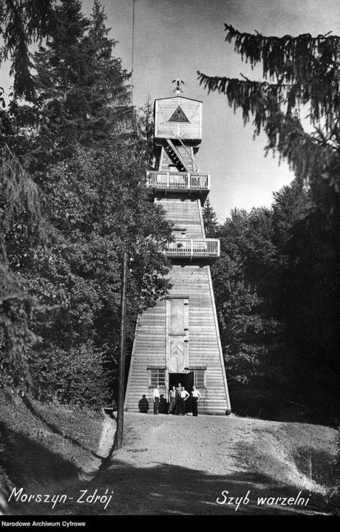 """Моршин. За архівним записом - свердловина джерела мінеральної води """"Боніфацій"""", 1937 р."""