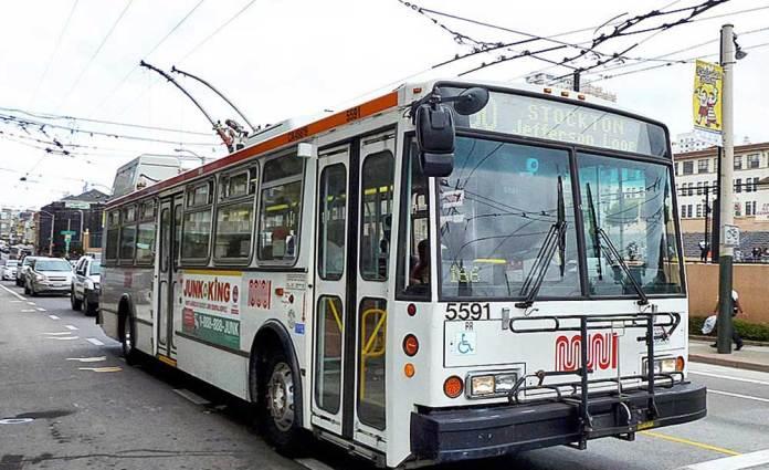 Чеський тролейбус «Škoda 14Тr» у Сан-Франціско (США)