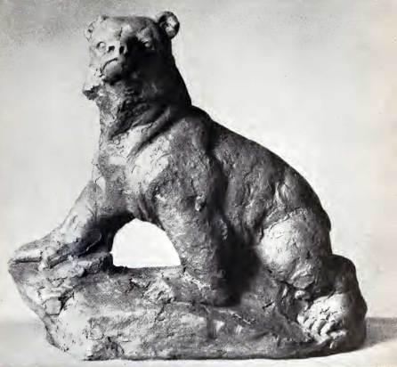 Антін Павлось. Молодий ведмідь, теракота.