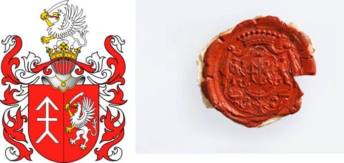Герб роду Ходкевичів і печатка