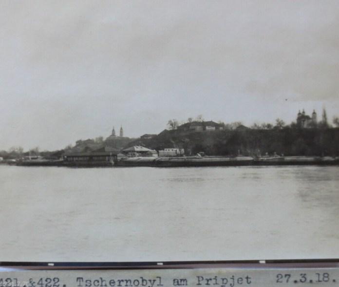 Чорнобиль, вид на Замкову гору, 1918 рік. Фото з німецького архіву