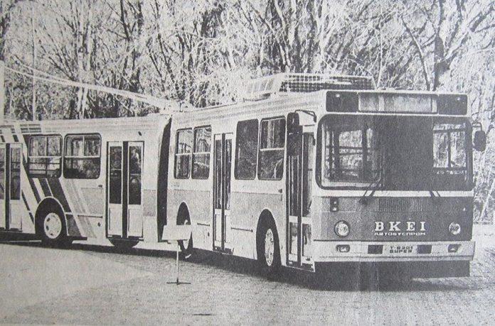Експериментальний тролейбус на базі кузова 5256, побудований силами експериментального цеху ВКЕІ Автобусобудування (модель ЗіУ-5256Т) на території тролейбусного депо Львова