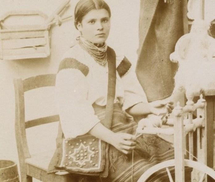 Мешканка Галичини на світлині 1890-х років. Фотограф Юрій Дуткевич