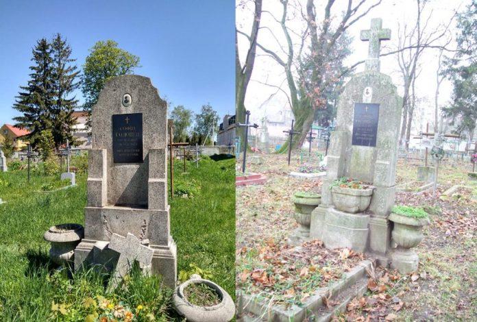 Могила Софії Соловей, чия трагічна історія кохання була відома на все Рівне. Праворуч фото 2007 року, ліворуч – 2021-го