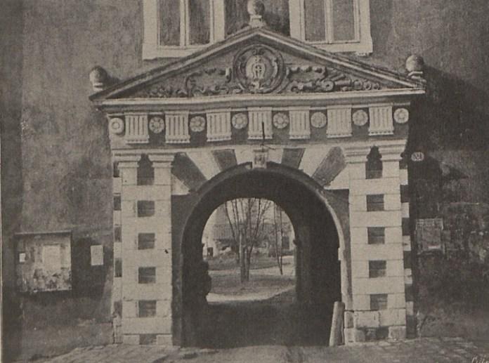 Замкова брама в Жовкві, 1900 р.