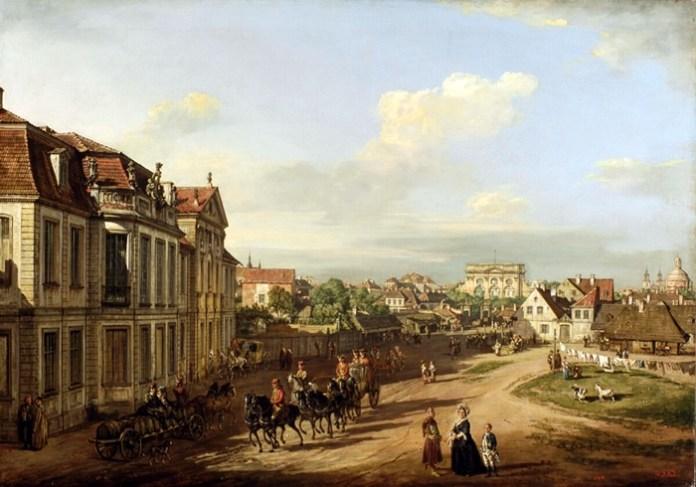 Палац Любомирських у Варшаві на площі Залізної Брами, малюнок 1779 року