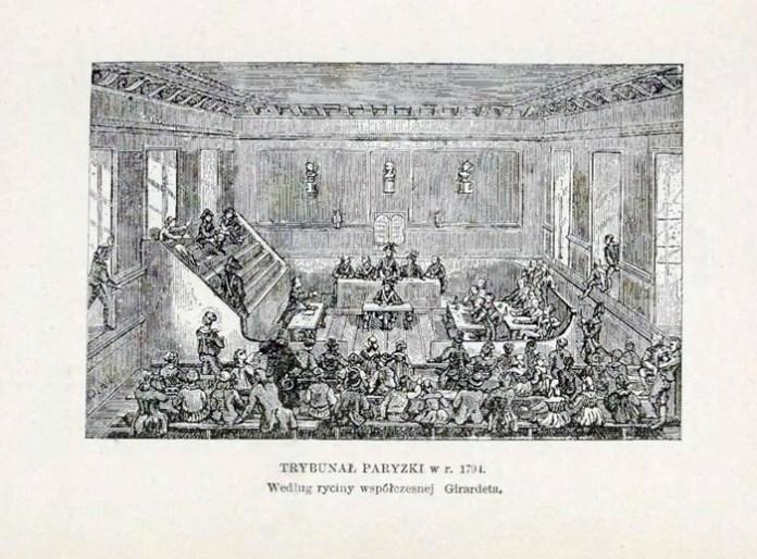 Ілюстрація до засідання паризького трибуналу з книги Александера Краушера