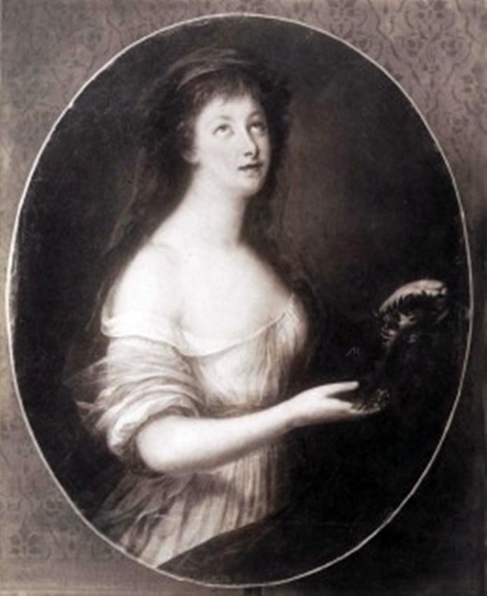 Фотопортрет з картини Олександра Росліна, який у Парижі малював Розалі в 1792 році