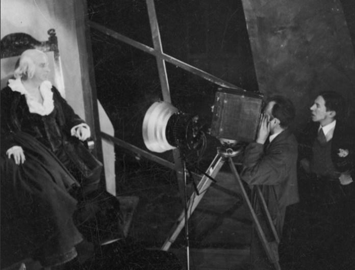 Знімають фільм про львівський театр, 1933 р.