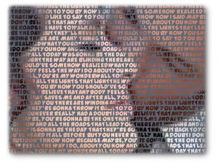 Turn words into pictures made of words : Photo to text