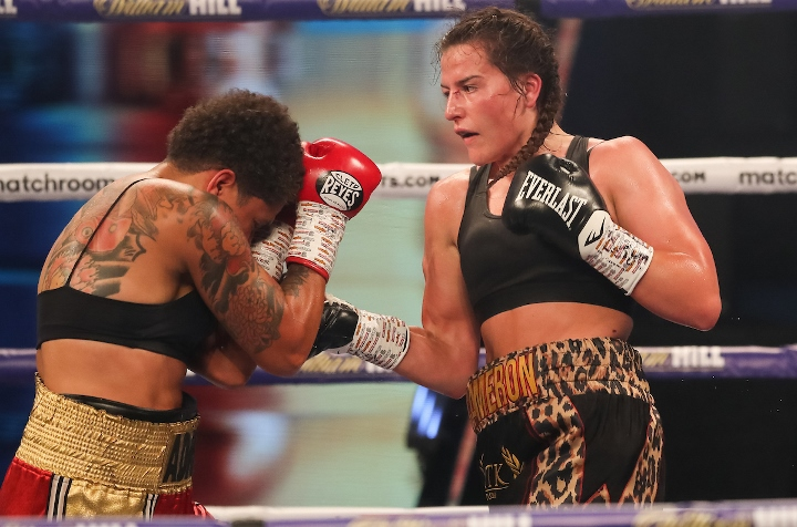 Chantelle Cameron returns to action on Matchroom: Haney vs Linares after securing the WBC Super Lightweight title against Adriana Araujo | Pintsized Interests