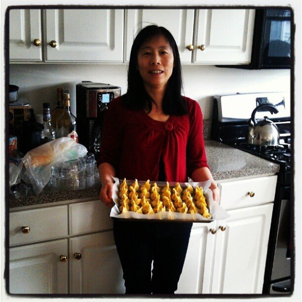 Courtesy of my sister-in-law: Christmas wontons!