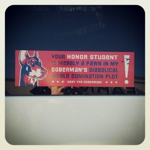 Obey the Doberman!
