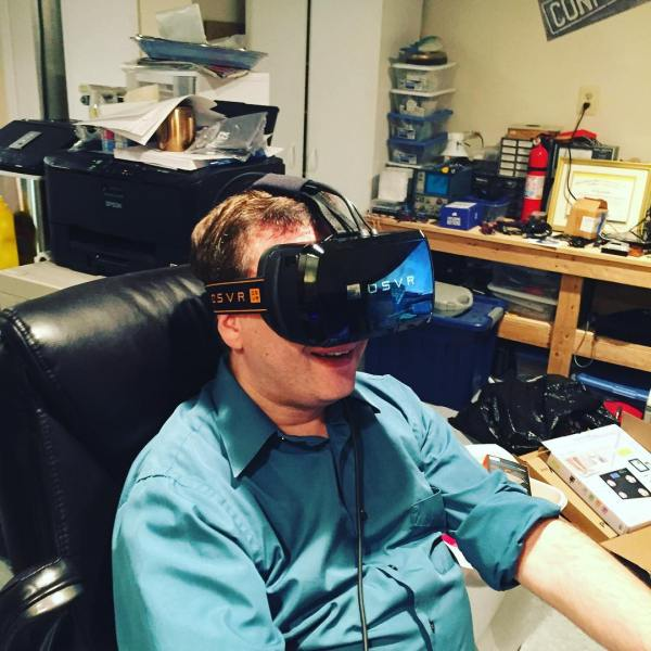 Stefan trying VR for Christmas