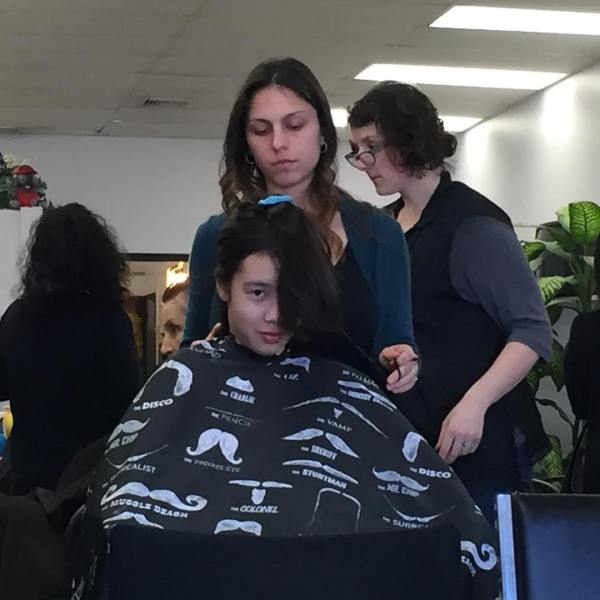 Wednesday Addams gets her hair done