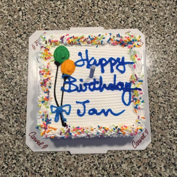 Birthday cake! Cool!