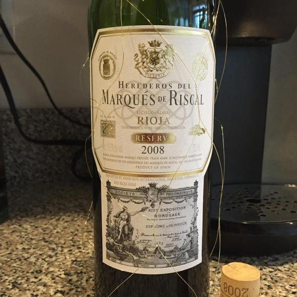 New wine with dinner