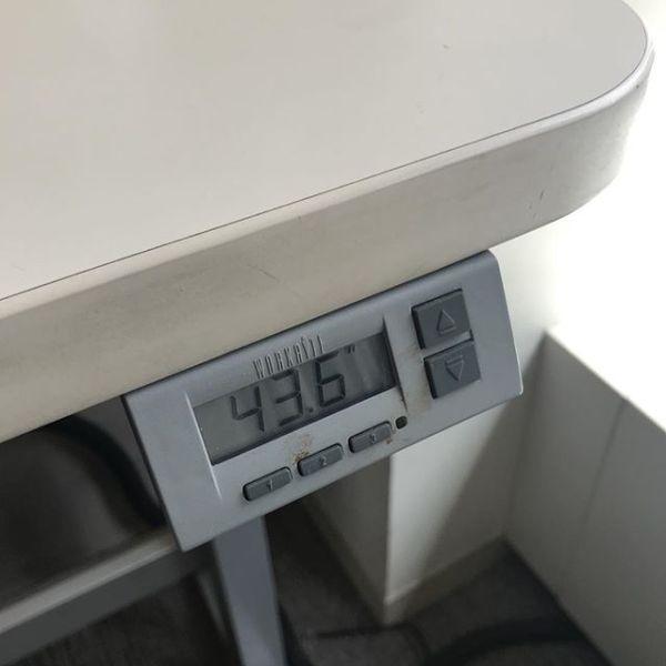 Adjustable desk is adjustable. // @lilydembowski