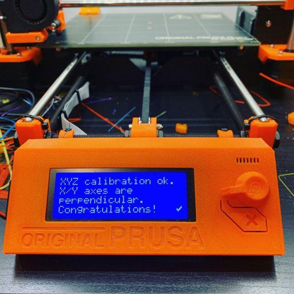 Post printer firmware upgrade calibration