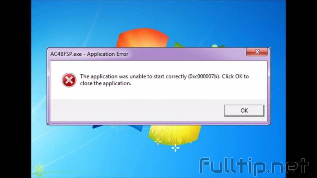 fix error 0xc000007b