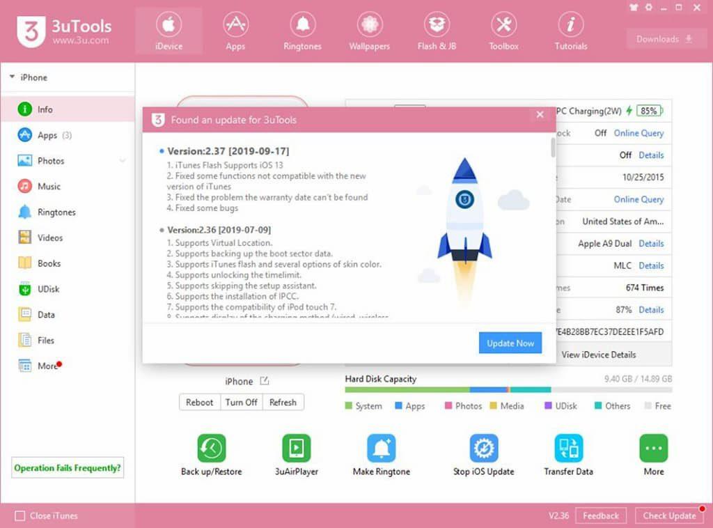3uTools released version 2.37