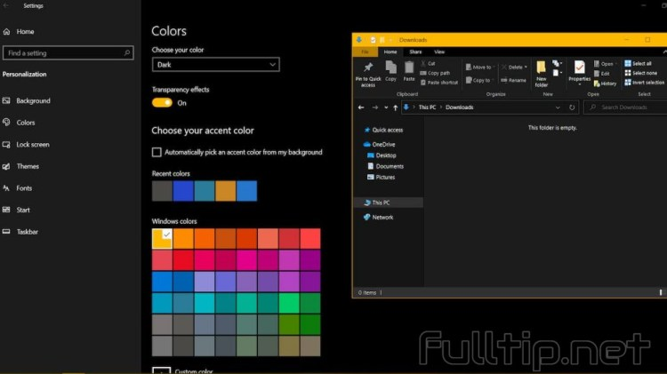 change the color of the Windows 10 border