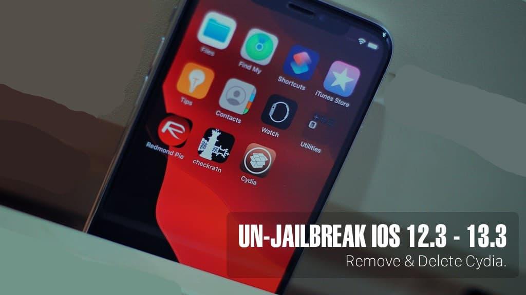 delete jailbreak iOS 13.3