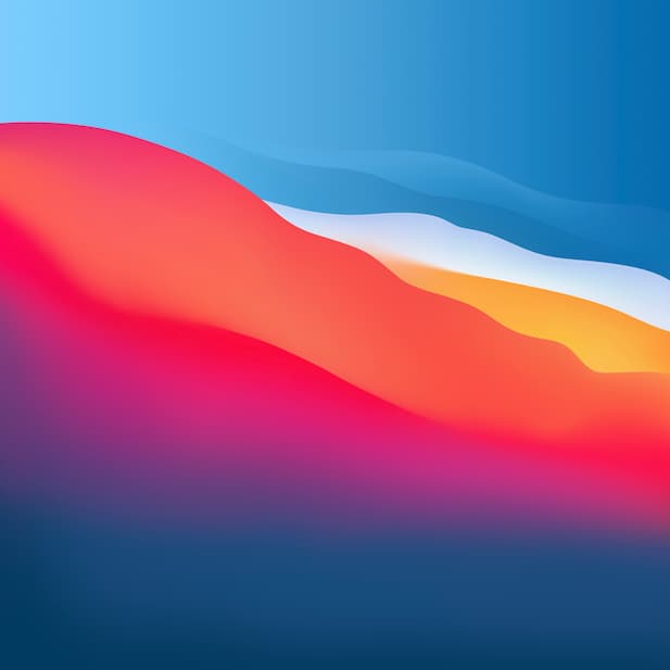 macOS Big Sur colorful day 6k