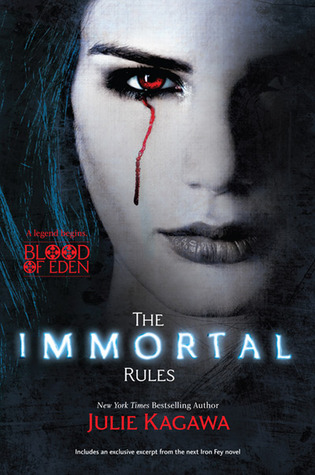 Book cover for The Immortal Rules by Julie Kagawa