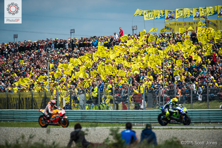 Image result for fans rossi in race day