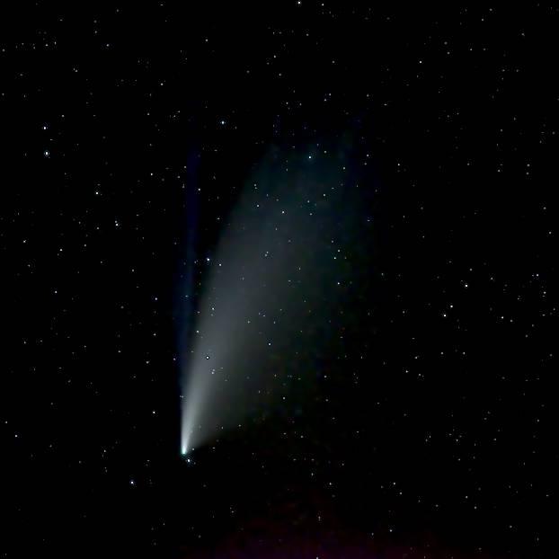 Photo de la comète Neowise au Pentax K-1