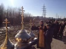 5 - Освящение куполов храма