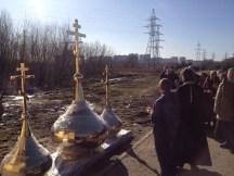 30 - Освящение куполов храма