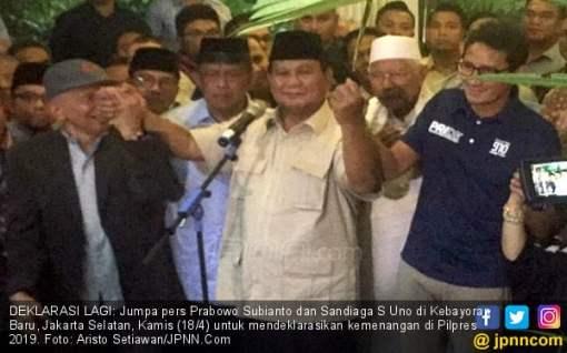 Deklarasikan Kemenangan Lagi, Prabowo Kutip Pidato Jokowi soal Rantai Sepeda - JPNN.COM