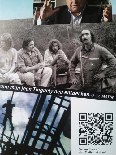 Tinguely Flyer mit QR Code von Kaywa