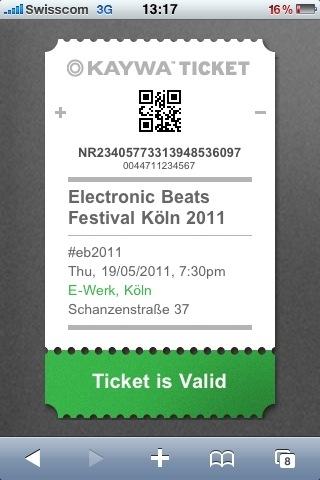 Kaywa Ticket