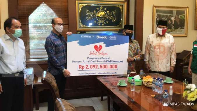 Kompastv Dan Didi Kempot Salurkan Donasi Sobat Ambyar Peduli