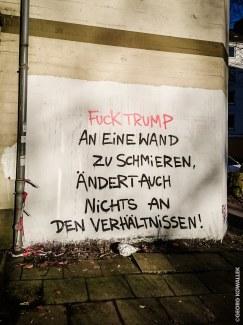 Trump Schmieren - Hamburg - Sartoriusstraße