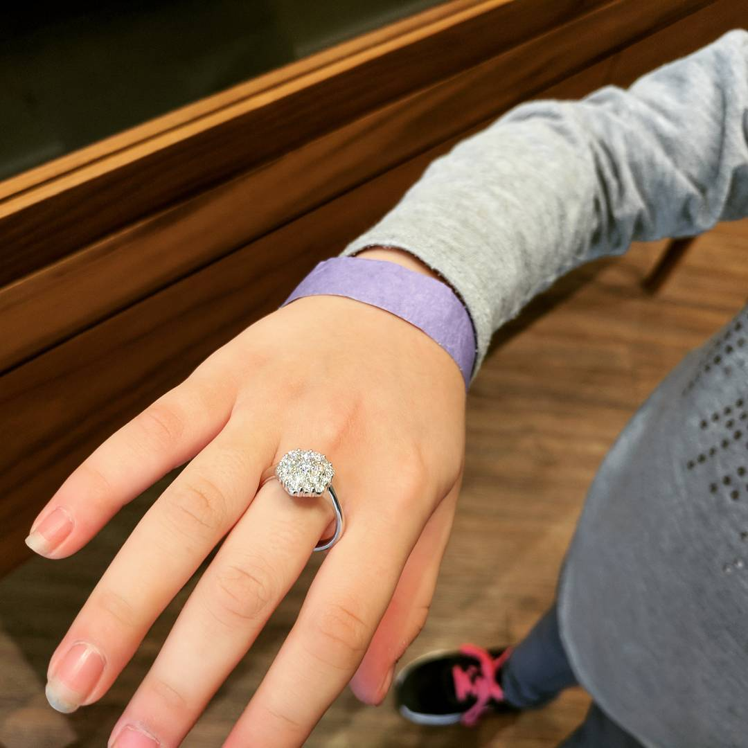 When the jewelry store let your eight year-old try on a $4,000 ring