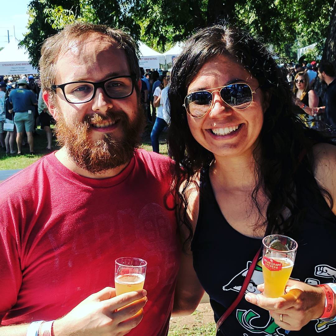 Enjoying the Texas Craft Brewers Festival