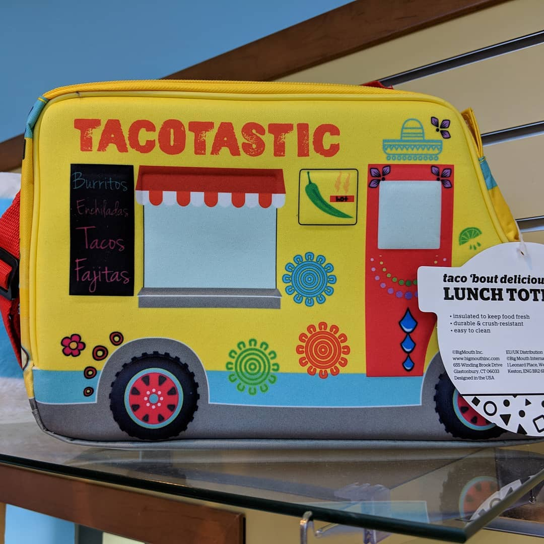 The hospital gift shop has a taco truck lunchbox. If I didn't work from home…
