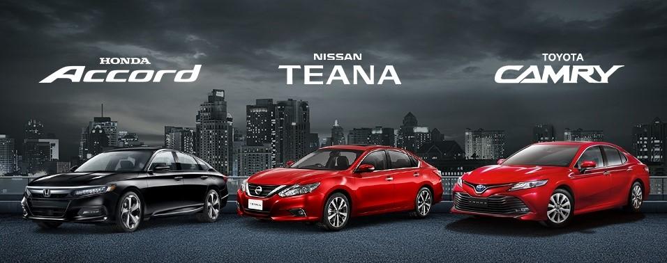 Honda Accord Nissan Teana Toyota Camry Premium Sedan Whos the Best