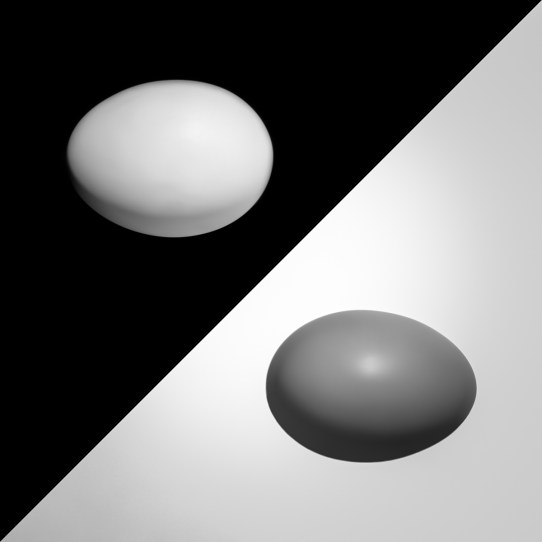 Black and Egg and Egg and White