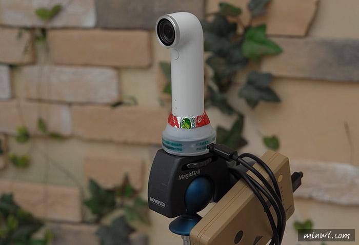 梅問題-《喝完的養樂多別丟!!》自製HTC RE迷你攝錄影機充電腳架二用座