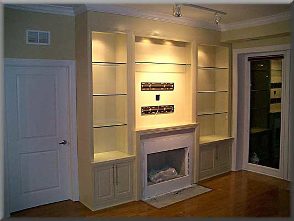 Integrated Shelving Around Fireplace Joinery Amp Cabinet