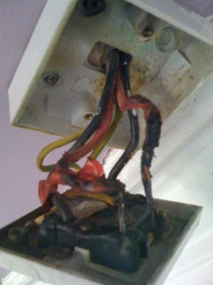 Shower Switch Replacement (Cord Pull)  Burnt wires  Electrical job in Glasgow, Lanarkshire