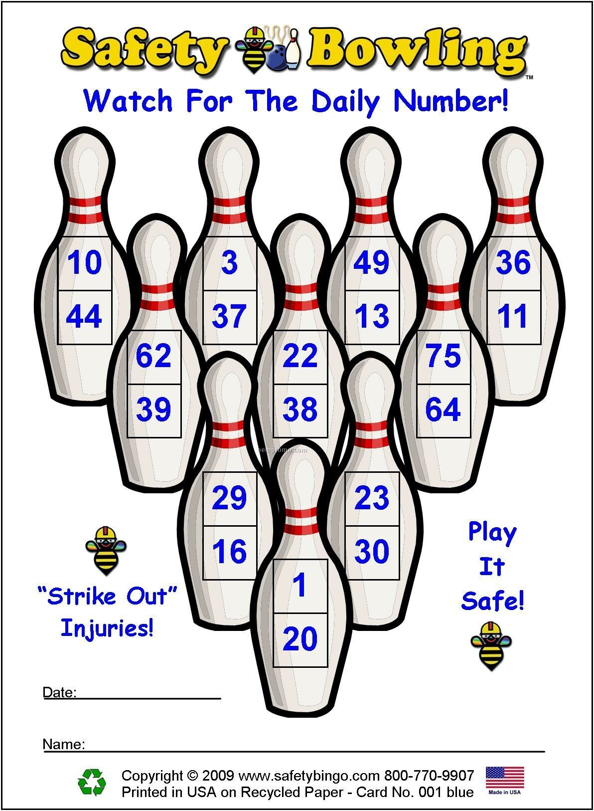 Safety Bowling Cards Or Custom Game Cards China Wholesale Safety Bowling Cards Or Custom Game Cards