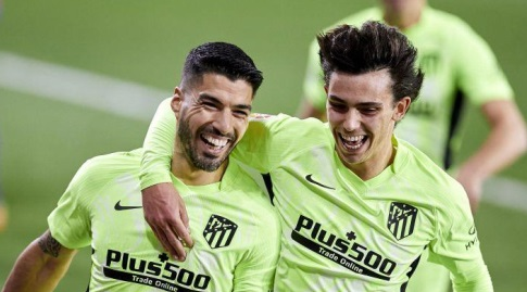 Luis Suarez and Joao Felix Celebrate (La Liga)