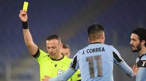 Ural Greenfeld draws a yellow card (Reuters)