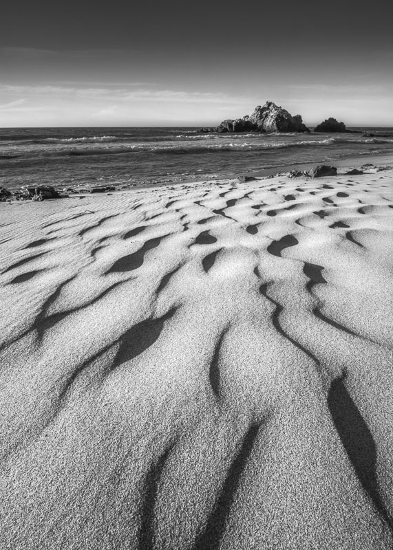Patterns in the sand at Pfeiffer Beach, Big Sur, California